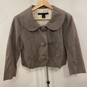 Marc by Marc Jacobs Cropped Button Up Blazer